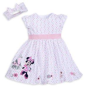 Disney Parks Minnie Mouse Castle Dress 3-6 months
